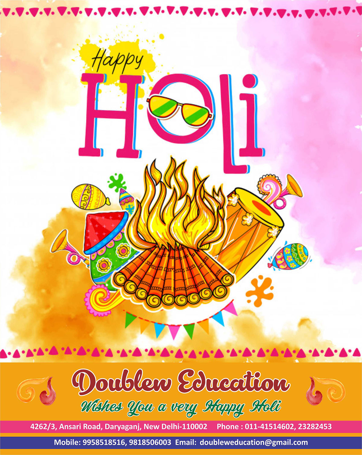 Let the colours of Holi spread the message of Love, Peace & Happiness!